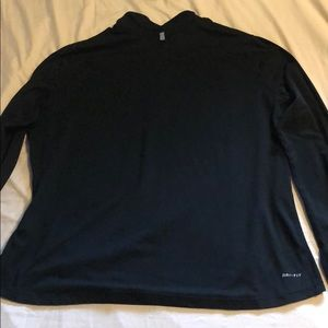 Nike Jackets & Coats - Nike women's plus half zip pullover black 1X
